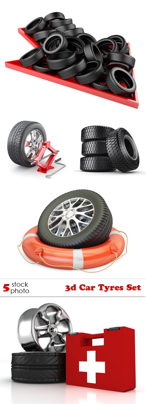 Photos - 3d Car Tyres Set