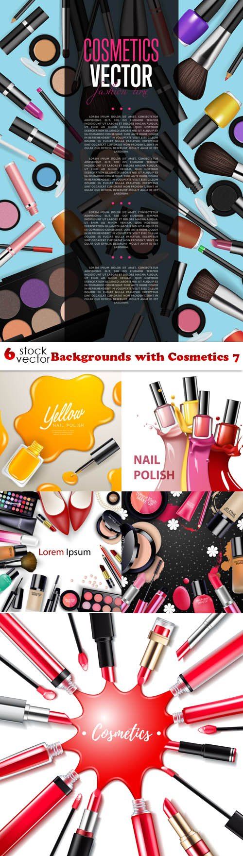 Vectors - Backgrounds with Cosmetics 7