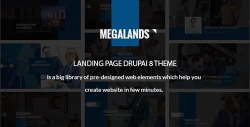 ThemeForest - MegaLands v1.0 - Multipurpose Landing Pages Drupal 8 Theme - 19593932