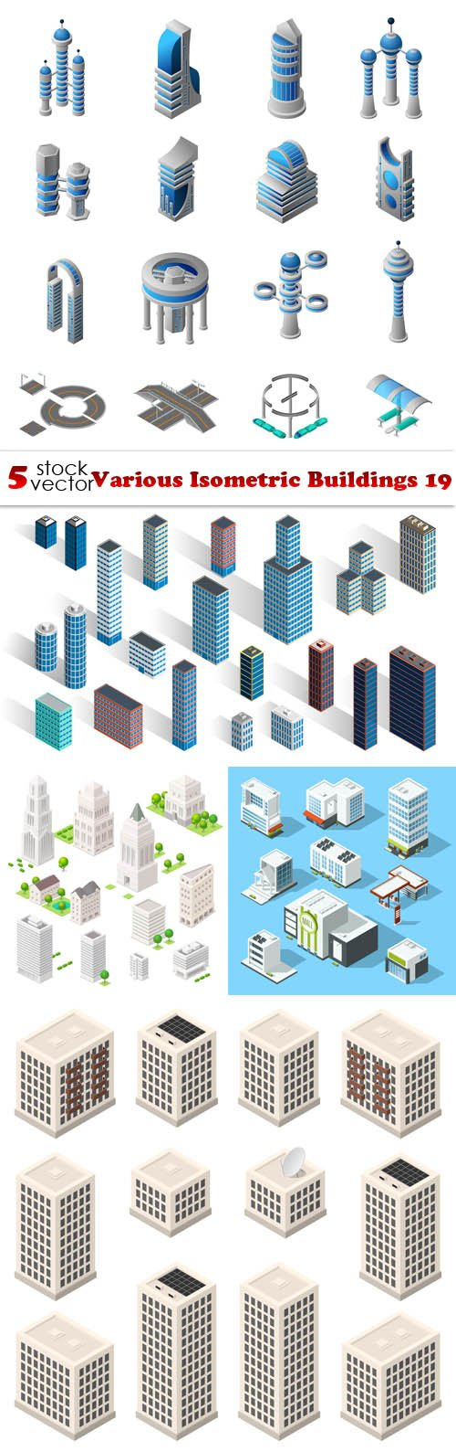 Vectors - Various Isometric Buildings 19