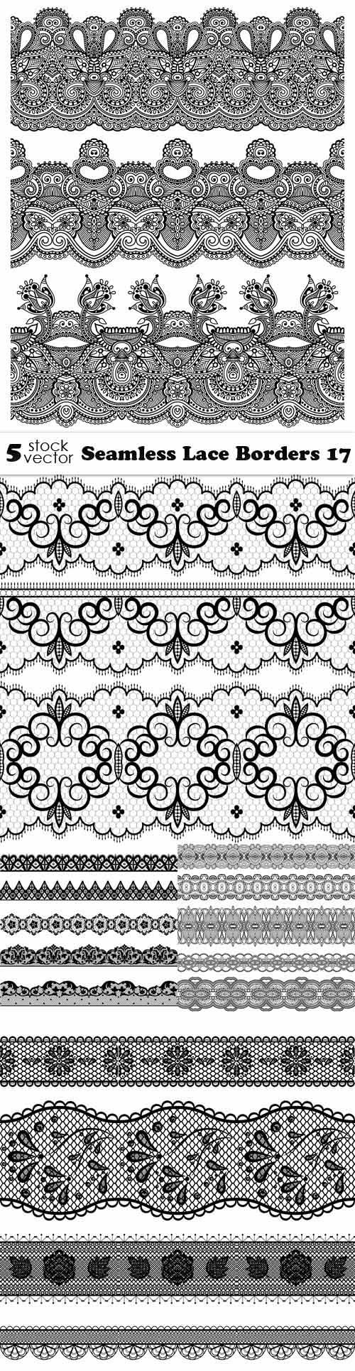 Vectors - Seamless Lace Borders 17