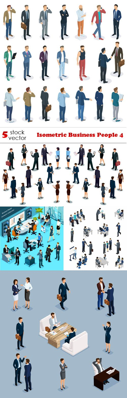 Vectors - Isometric Business People 4
