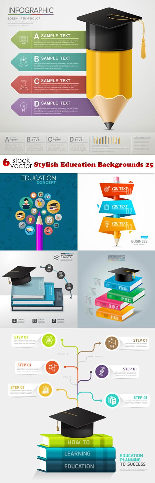 Vectors - Stylish Education Backgrounds 25