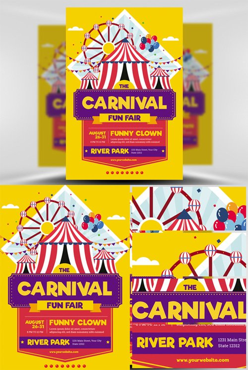 Flyer Template - Carnival Funfair Event