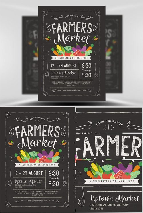 flyer template - farmers market  u00bb nitrogfx