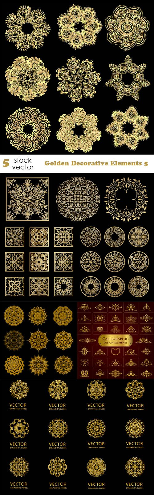 Vectors - Golden Decorative Elements 5