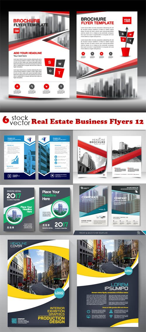 Vectors - Real Estate Business Flyers 12