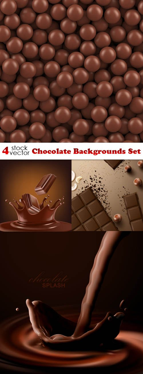 Vectors - Chocolate Backgrounds Set
