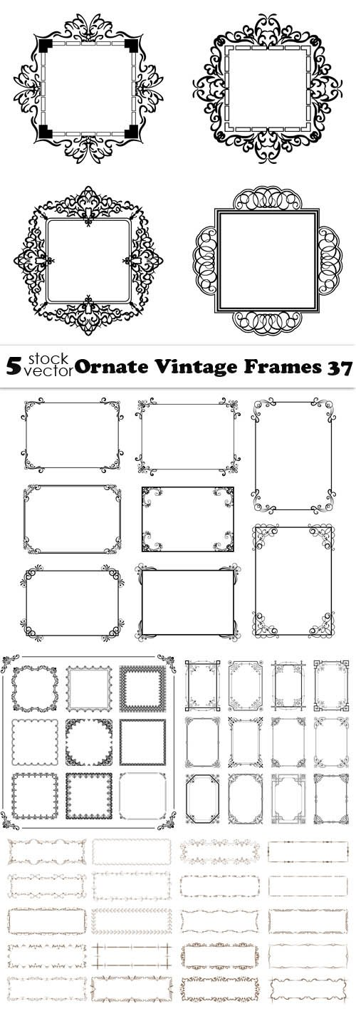 Vectors - Ornate Vintage Frames 37