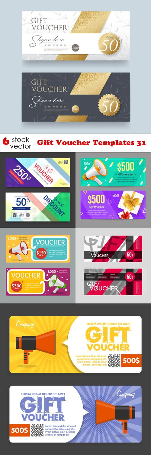 Vectors - Gift Voucher Templates 31