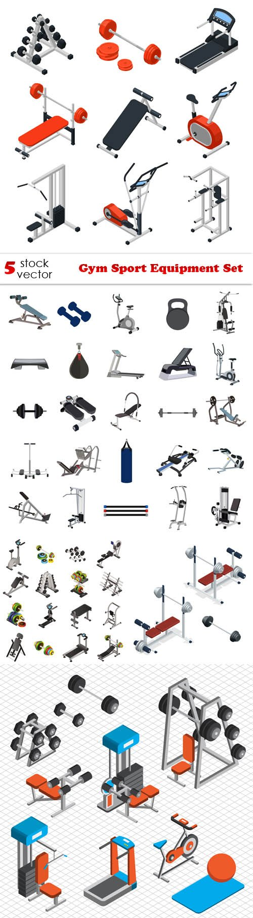 Vectors - Gym Sport Equipment Set