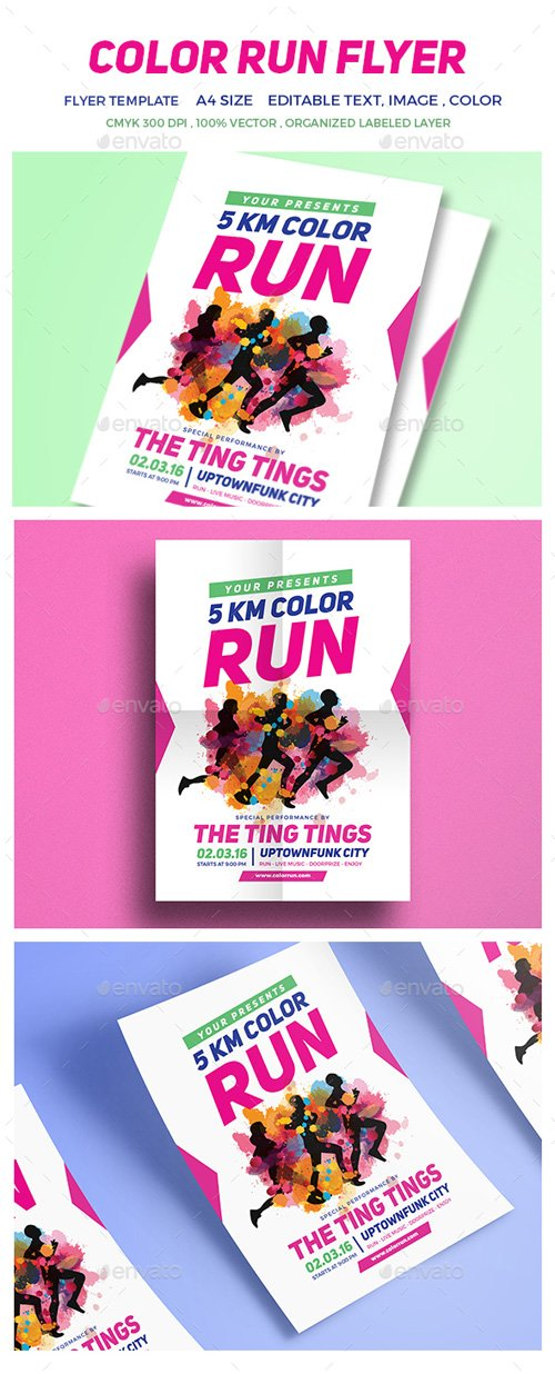 Color Run Festival Flyer 16712564