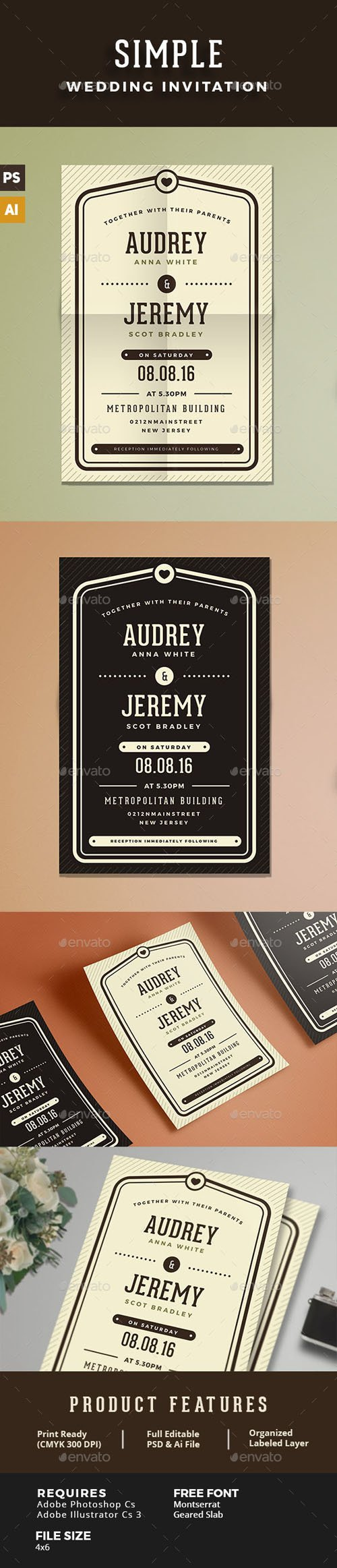 GR - Simple Wedding Invitation 15730655