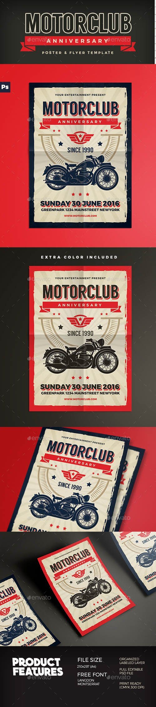 GR - Motor Club Anniversary Event Flyer 15572302
