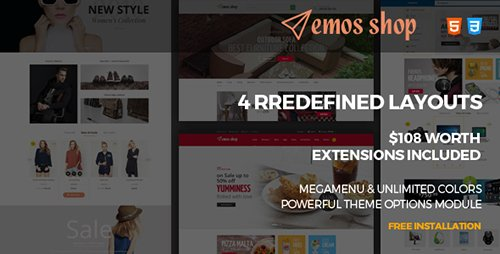 ThemeForest - Emos v1.0 - Multi Store Responsive Magento Theme (Update: 26 May 17) - 19466139