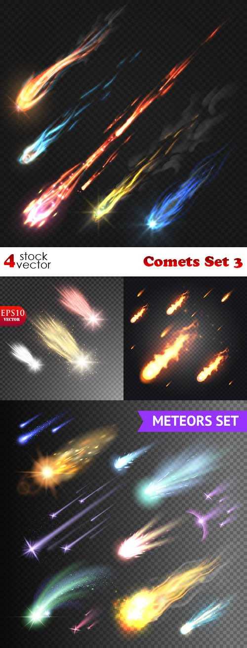 Vectors - Comets Set 3