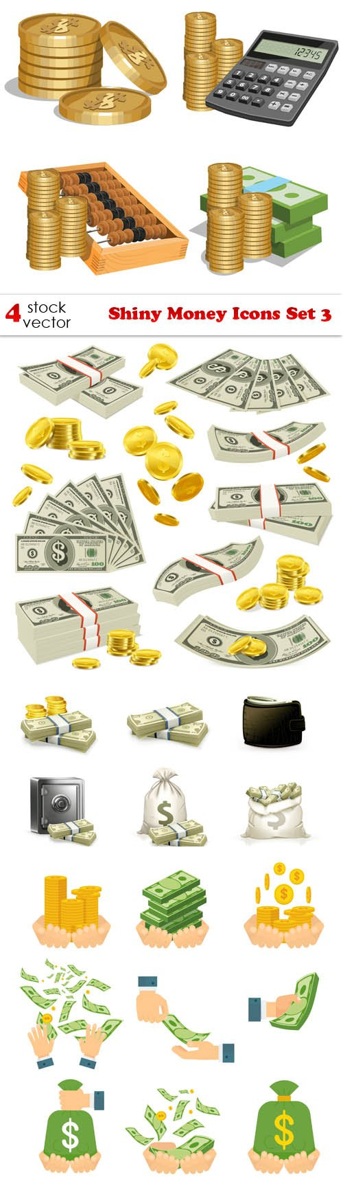 Vectors - Shiny Money Icons Set 3