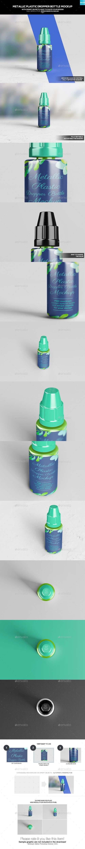 GR - Metallic Plastic Dropper Bottle Mockup 20206340