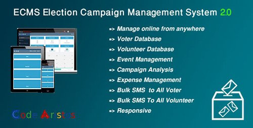 CodeCanyon - ECMS v2.0 - Election Campaign Management System - 13813980