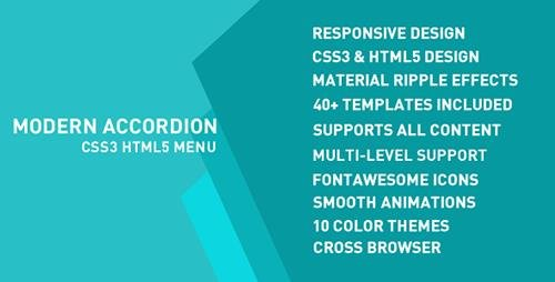 CodeCanyon - Modern Accordion Menu v1.0 - 15156827