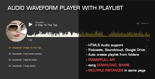 CodeCanyon - Audio Waveform Player with Playlist v1.1 - 18420897