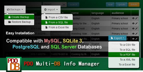 CodeCanyon - PDO Multi-DB Info Manager (Update: 3 May 14) - 5641189
