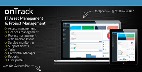 CodeCanyon - onTrack v1.7 - IT Asset Management & Project Management - 14772352