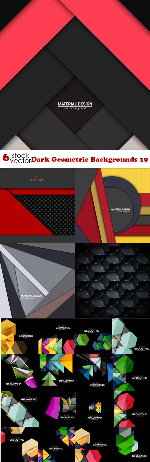 Vectors - Dark Geometric Backgrounds 19