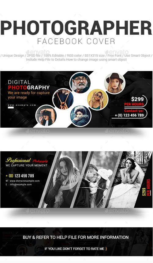 Graphicriver - Photographer Facebook Cover 20154234
