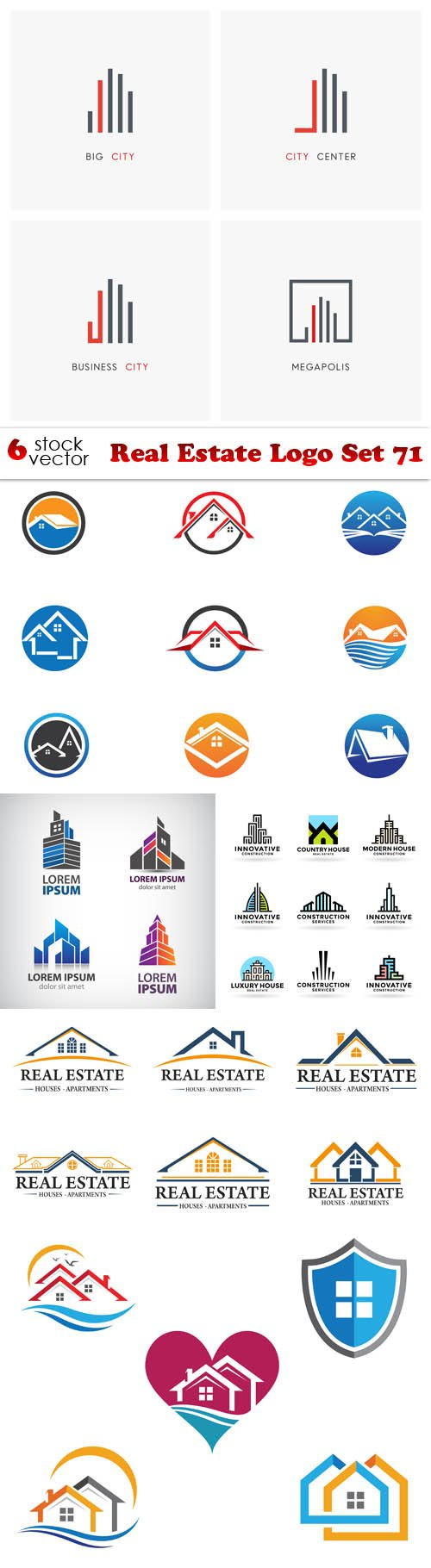 Vectors - Real Estate Logo Set 71