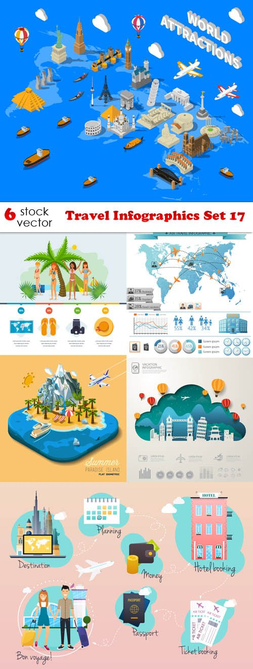 Vectors - Travel Infographics Set 17