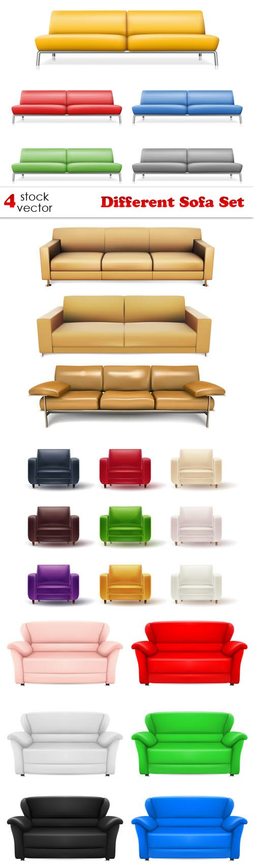 Vectors - Different Sofa Set