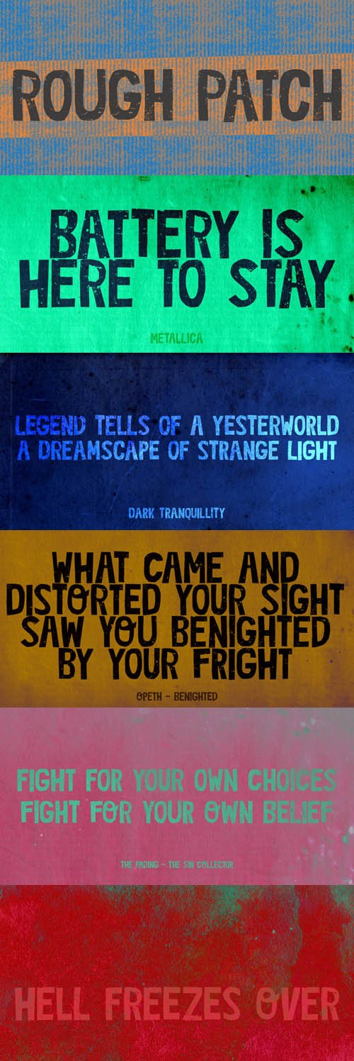 Rough Patch font family