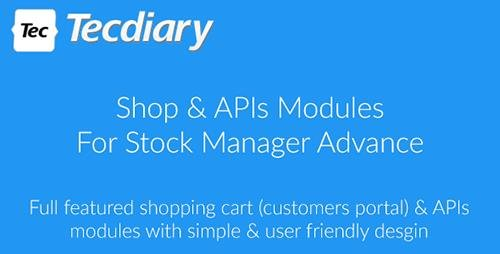 CodeCanyon - Shop (Shopping Cart) & APIs Modules for Stock Manager Advance v3.1.0 - 20046278