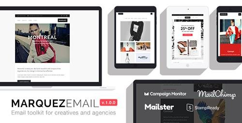 ThemeForest - Marquez v1.0 - Responsive Email for Agencies: 70+ Sections + StampReady Builder + MailChimp Integration - 20192293