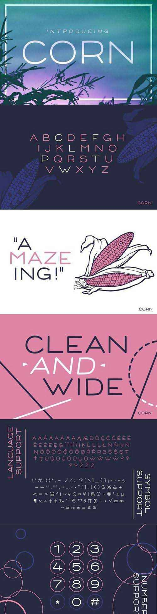 Corn - A clean font with style 1503588