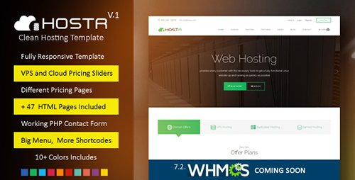 ThemeForest - Hostr v1.0 - Awesome Clean Hosting Responsive Template - 20078387
