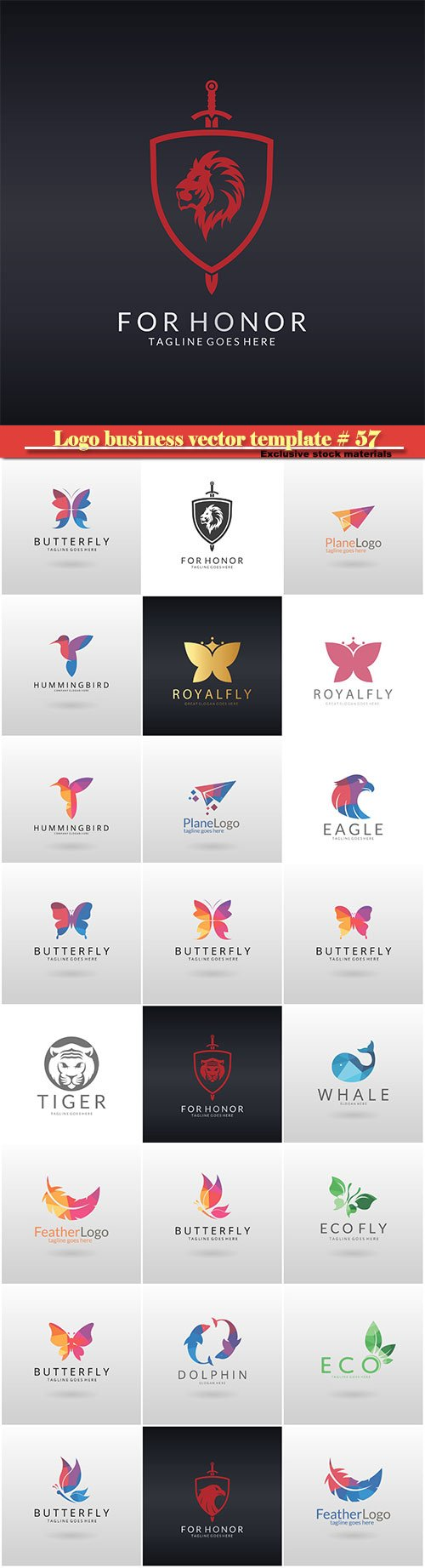 Logo business vector illustration template # 57