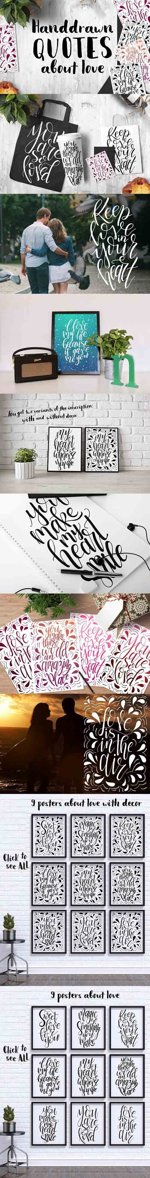 CM - 9 hand lettering Quotes about love 1608416