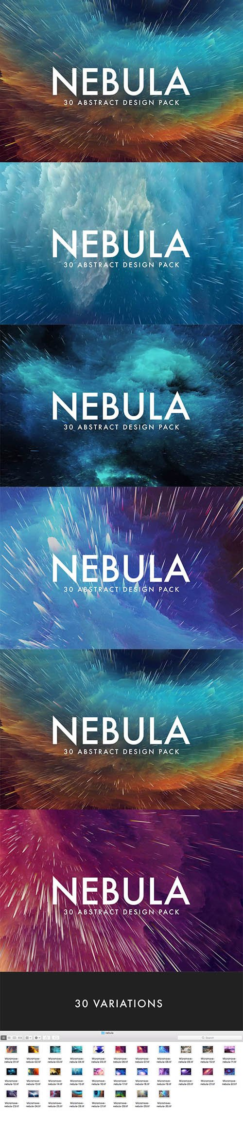 Nebula - 30 Abstract Design Pack