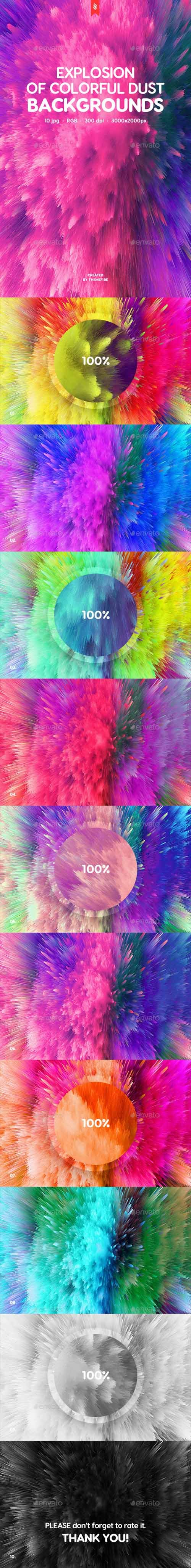 Explosion of Colorful Dust Backgrounds 20234705