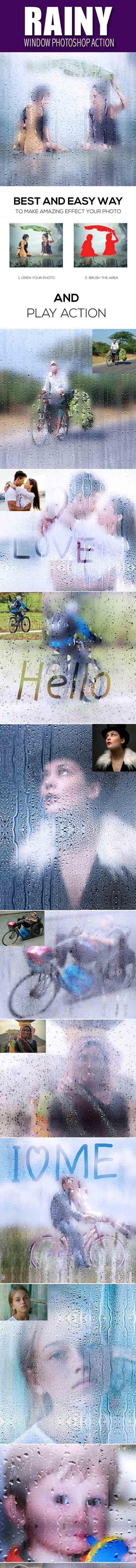 Graphicriver - Rainy Window Photoshop Action 20178712