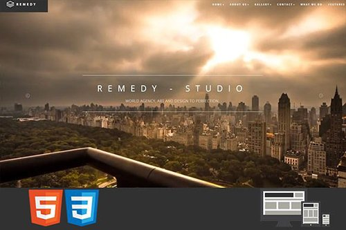 Remedy One/Multi Page HTML Template - CM 1309357