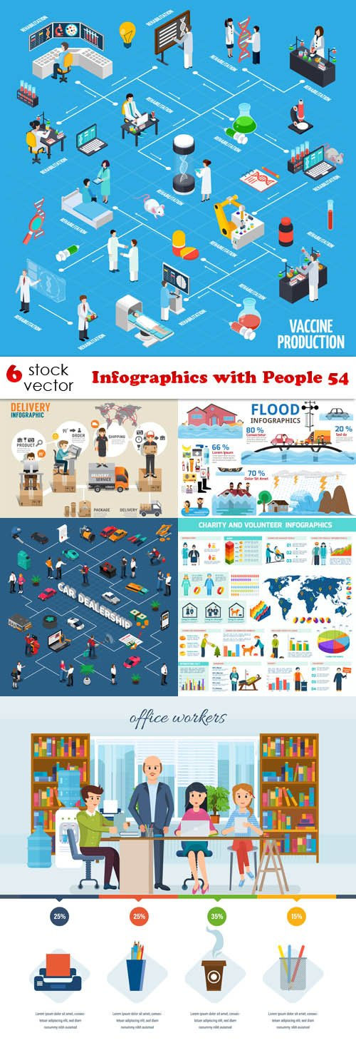 Vectors - Infographics with People 54