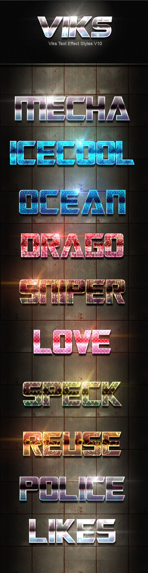 Graphicriver - Viks Text Effect Styles V10 20178298