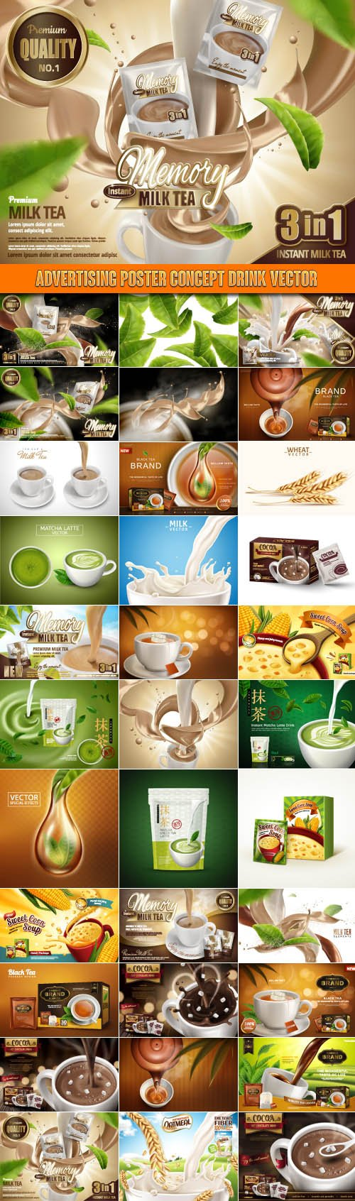 Advertising Poster Concept Drink vector