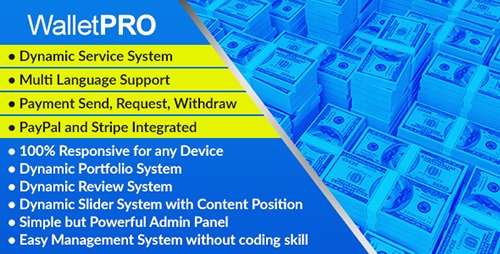 CodeCanyon - WalletPRO v1.0 - Dynamic Payment Gateway - 20055592