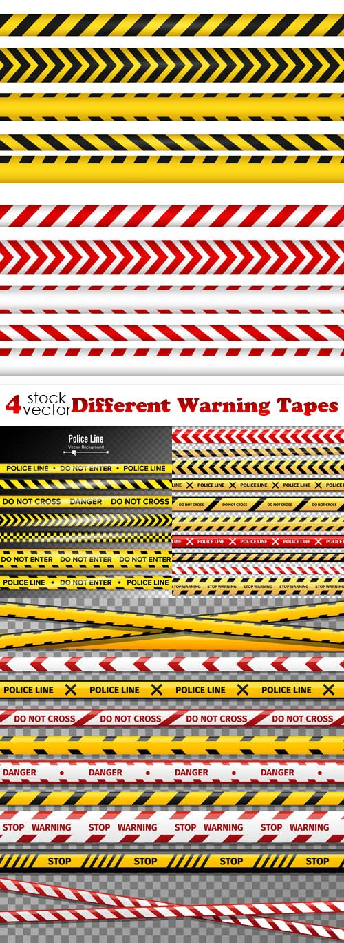 Vectors - Different Warning Tapes