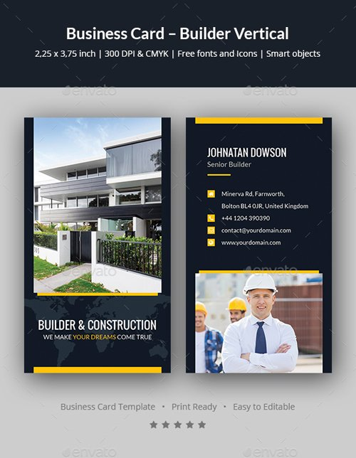 Business Card – Builder Vertical 20242026