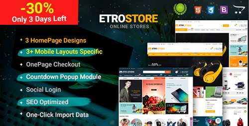 ThemeForest - EtroStore v1.0.0 - Premium Multipurpose Digital OpenCart Theme - 20233253